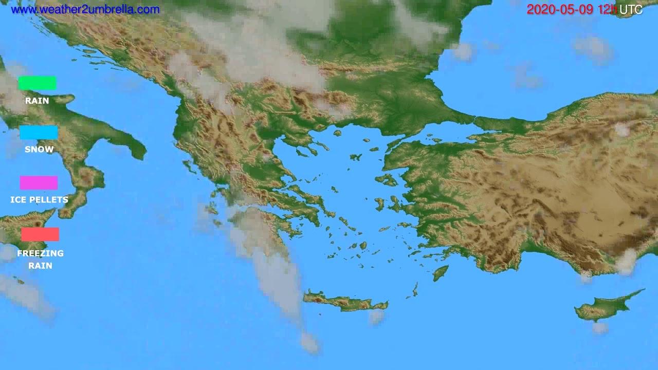 Precipitation forecast Greece // modelrun: 00h UTC 2020-05-09