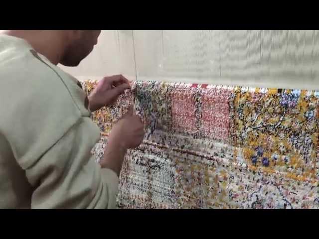 ペルシャ絨毯の結び方、HOW TO KNOT PERSIAN CARPET