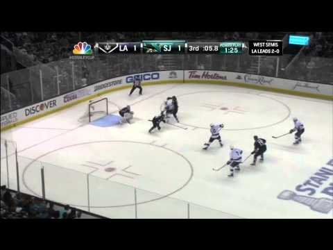 Last 1.5 mins of regulation May 18 2013 LA Kings vs SJ Sharks NHL Hockey_Best videos: Ice hockey