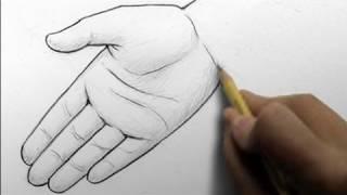 Видео урок: как нарисовать реалистичные руки карандашом