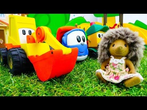 Машинки Игрушки Грузовичок Лева и Мася в Видео для детей: Детская площадка для ежиков! (видео)