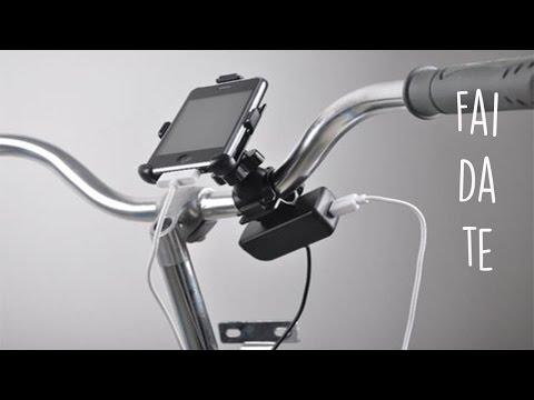 tutorial fai da te - come caricare il cellulare con la bici