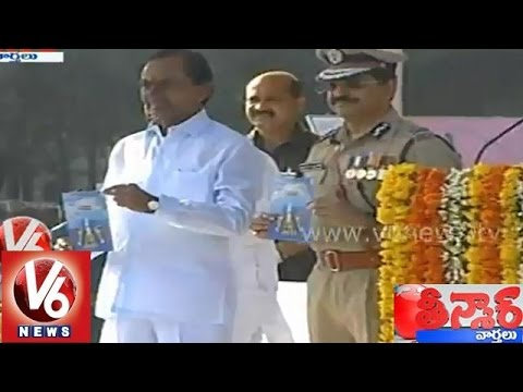 CM KCR pays tributes to the police martyrs  Teenmaar News