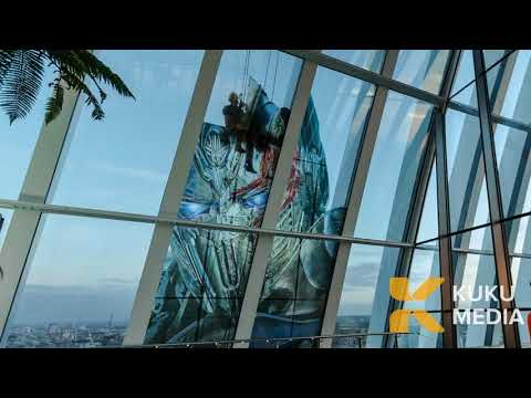 Industrial Abseiling - Transformers, The Dark Knight