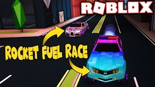 ROCKET FUELED CAMARO VS LEVEL 5 BUGATTI RACE!!! (Roblox Jailbreak)