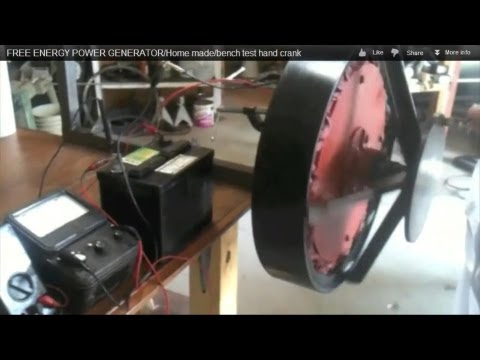 Generator - How to build a Low rpm, working generator. 100 watts at 120 rpm and 200 watts at 170 rpm. For charging a 12/ 24 volt system.Hand crank test. Watch my other v...