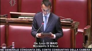 Luigi Di Maio: spese pazze alla Camera - intervento integrale