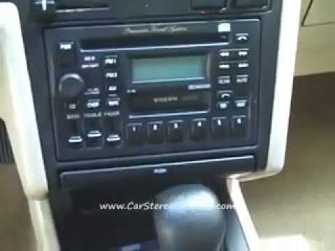 Removing Volvo Car Stereo