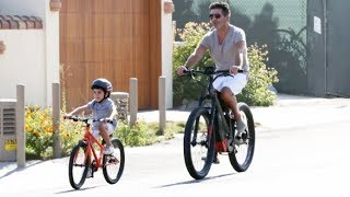 Simon Cowell Is Loving Daddy Duty As He Bikes With Son Eric