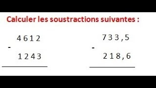 Maths 6ème - Les opérations : Addition Soustraction Multiplication Division Exercice 6