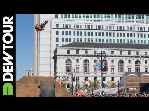 FMX Triple Threat at the Dew Tour City Championships San Francisco 2013 видео