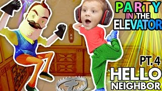 HELLO NEIGHBOR, CAN WE PARTY IN YOUR ELEVATOR? Scary FNAF Theme Park House? (FGTEEV Part 4 Alpha 1)