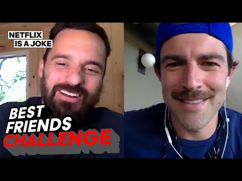Jake Johnson and Max Greenfield Killed the Best Friend Challenge | Netflix Is A Joke