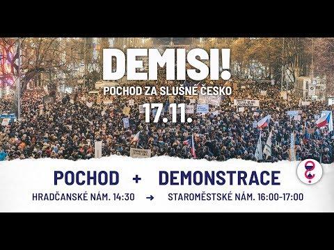 Pochod za slušné Česko - Demisi!
