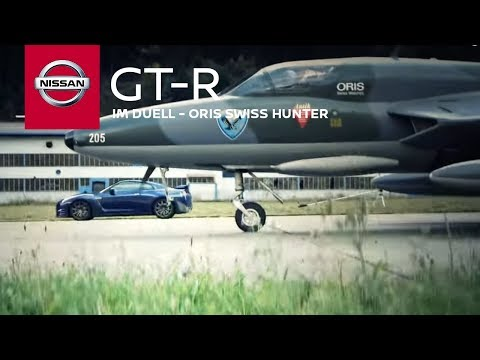 Nissan GTR vs. Hawker Hunter jet