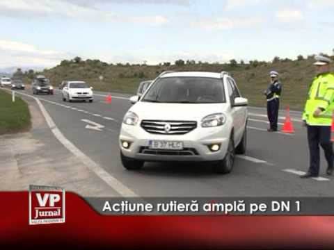 Acţiune rutieră amplă pe DN 1