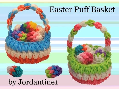 New Easter Puff Basket – Rubber Band Crochet – Hook Only -Rainbow Loom