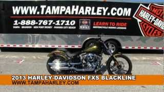 1. New 2013 Harley-Davidson FXS Softail Blackline For Sale