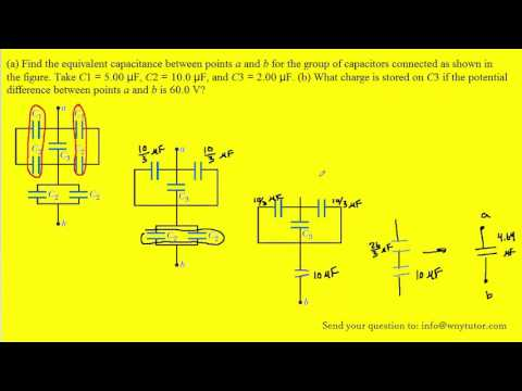 Consider the following figure find the equivalent capacitance