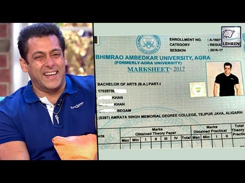 Salman Khan's BA College Marksheet Goes Viral |