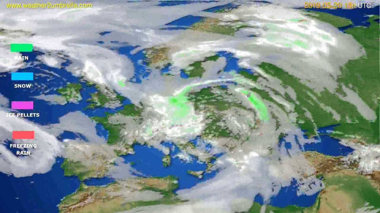 Precipitation forecast Europe // modelrun: 12h UTC 2019-05-18