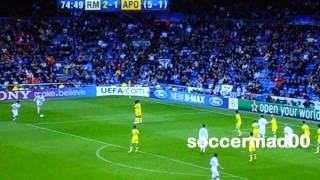 Real Madrid Vs Apoel 5-2 highlights - Champions league round 8 4/4/12 - YouTube