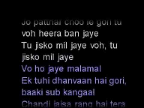 Video [KARAOKE] Chandi Jaisa Rang Hai Tera download in MP3, 3GP, MP4, WEBM, AVI, FLV January 2017