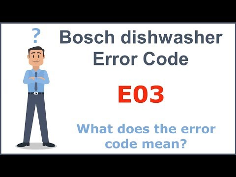 Bosch dishwasher error code E03 (How to fix)