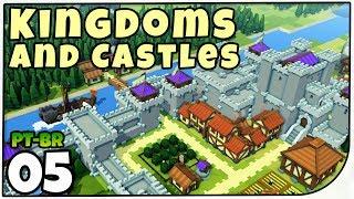 Kingdoms and Castles é um jogo de construção de base/reino com um visual bem simples e bonito.