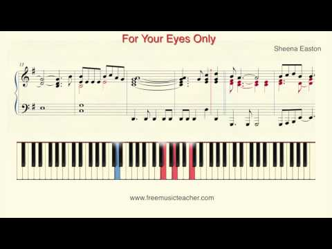 """How To Play Piano: Sheena Easton """"For Your Eyes Only"""" Piano Tutorial by Ramin Yousefi"""