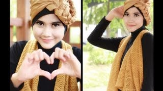 Modern Hijab Tutorial | Turban Square Paris For Party And Casual Events By Didowardah