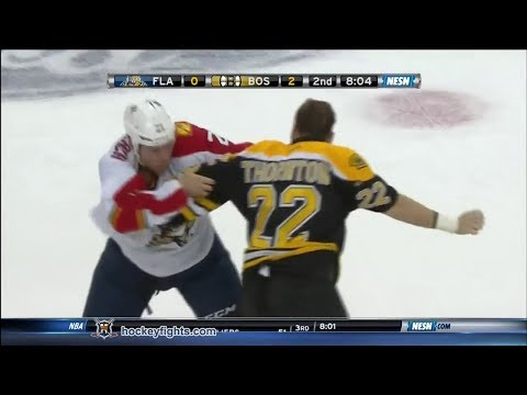 Krys Barch vs Shawn Thornton Mar 4, 2014