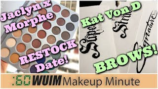 [cc available] Today in makeup and beauty news, lots of good deals at Haute Look (http://www.hautelook.com/short/3JiZ2), Jaclyn and Morphe share the restock date for their palette collab, Kat Von D shows artwork for upcoming projects, Sleek is now at Walgreens, First Aid Beauty is having a sale, Charlotte Tilbury sneaks her Hollywood collection, and Wet n Wild releases more mega-glow highlighters!Thanks for subscribing to my channel (https://www.youtube.com/subscription_center?add_user=jenluvsreviews) ! I specialize in thorough makeup reviews (Monday, Wednesday, Friday) that give you WAY more than the typical YouTube review including ingredient analysis, close up finger/brush swatches, and MORE! You'll also find What's Up in Makeup (Sunday) and the Makeup Minute (Monday-Friday) giving you the most UP TO DATE information about what is happening in the beauty industry, new product releases and MORE!FTC: *******************Visit our AWESOME Facebook Community! https://www.facebook.com/groups/whatsupinmakeup/*******************Instagram: jenluvsreviewsPeriscope: jenluvsreviewsTwitter: http://www.twitter.com/jenluvsreviews*******************Many YouTubers have inspired my choices for how I create content. Below are the people that have made the biggest impact!EmilyNoel83https://www.youtube.com/user/emilynoel83Stephanie Nicolehttps://www.youtube.com/user/MsStephNicEshani at TotalMakeupJunkie101https://www.youtube.com/user/TotalMakeupJunkie101Tati at GlamLifeGuruhttps://www.youtube.com/user/GlamLifeGuruCassie from Thrift Thickhttps://www.youtube.com/user/thriftthickPhilip DeFrancohttps://www.youtube.com/user/sxephil************************Music used in my videos:Out-Tro music - [Melodic Dubstep] Electro Light ft. Kathryn MacLean - The Edge [NCS Release]https://www.youtube.com/watch?v=15mPfnEHhxsMakeup Minute - 3 Best Background Music Breaking News from Free Music https://www.youtube.com/watch?v=ZXNZiH7Acu0********************************Magic Links (go.magik.ly) support th