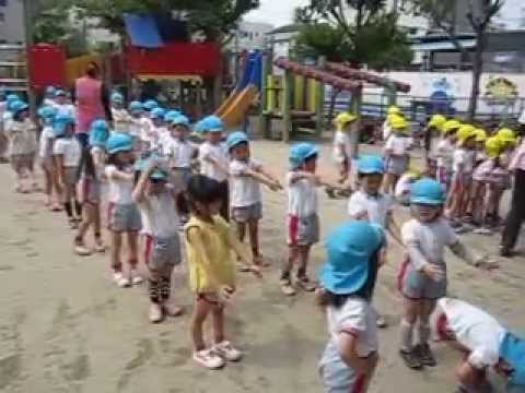 都島東保育園 朝の体操で元気に1日が始まります