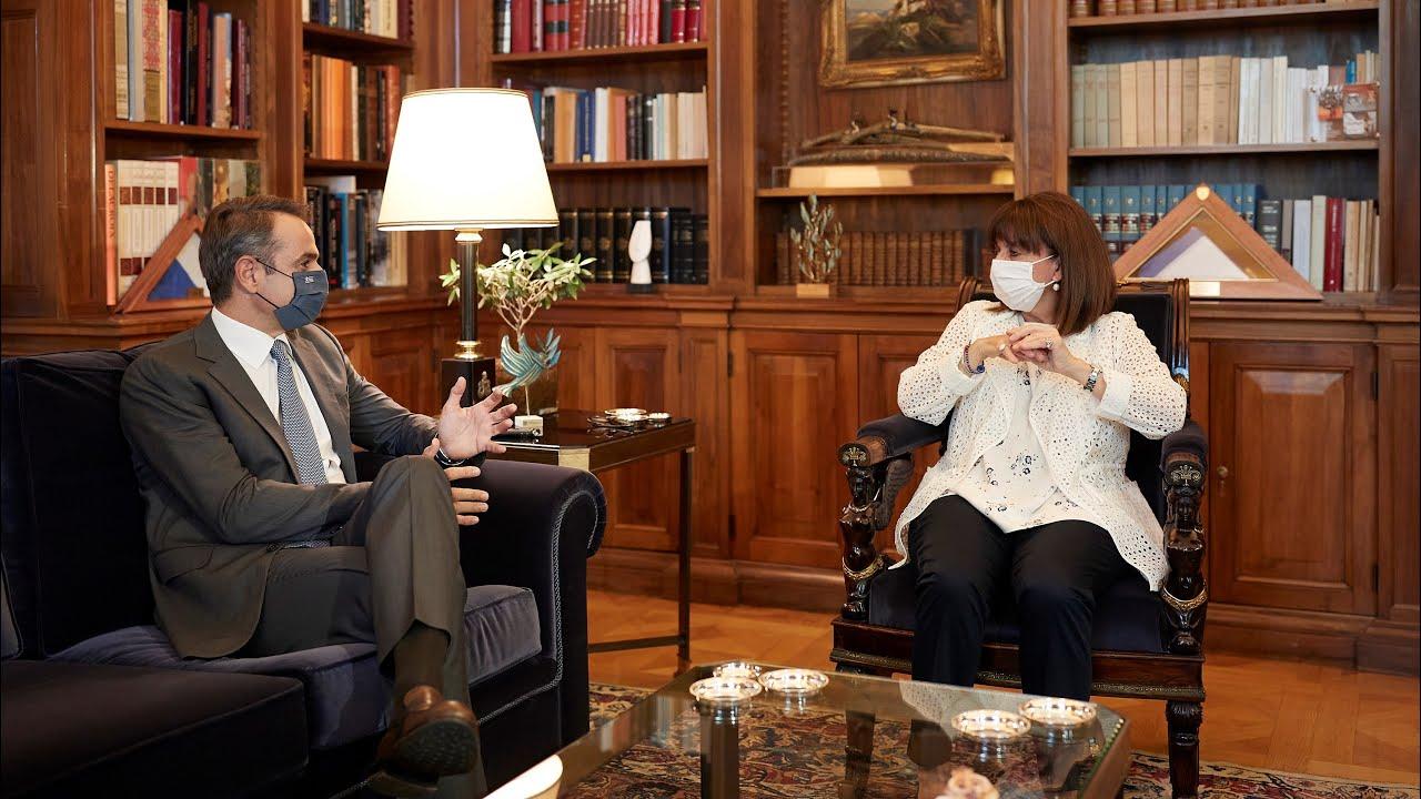 Δηλώσεις του Πρωθυπουργού Κ. Μητσοτάκη με την Πρόεδρο της Δημοκρατίας Κ. Σακελλαροπούλου