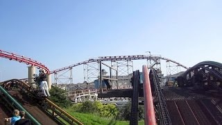 Ride on the center track of Steeplechase at Pleasure Beach in Blackpool, England.Watch in high definition.