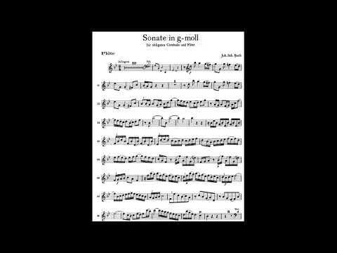 BACH  Sonata  in  Sol minor(g moll) BWV 1020/ 1. Allegro