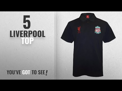 Top 10 Liverpool Top [2018]: Liverpool FC Official Football Gift Mens Crest Polo Shirt