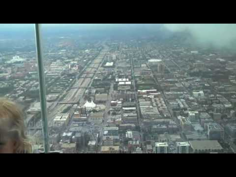 "View from Sears Tower's ""Ledge"""