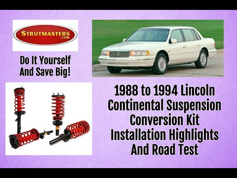 Suspension Lincoln | 1994 Lincoln Continental Front/Rear Air Conversion By Strutmasters