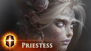 White Priestess - SpeedPainting by TAMPLIER 2015