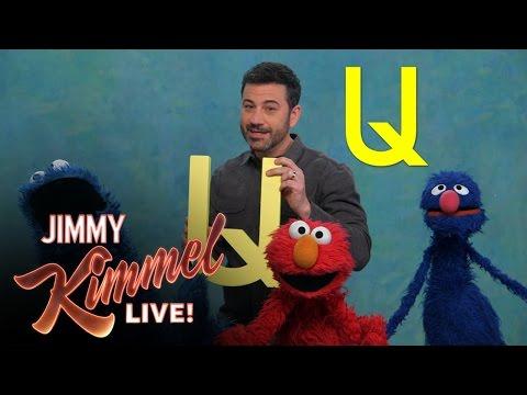 Jimmy Kimmel Visits Sesame Street