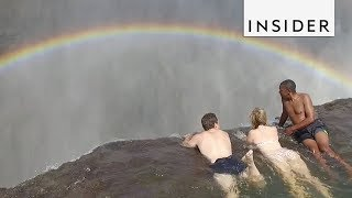Download Youtube: Swim to the Edge of a Waterfall at Devil's Pool