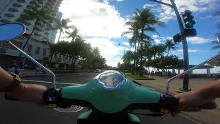 9. Genuine Buddy 50cc - Riding through Waikiki to Diamond Head Road - Oahu, Hawaii