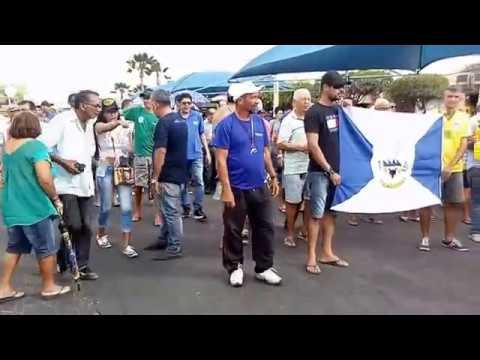 Manifestação contra o fechamento da Fábrica da Pedra em Delmiro Gouveia