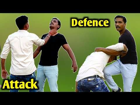 Samne se gla ( neck ) pakad le to self defense kaise kare||Self defense techniques||nepanag… видео