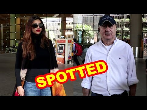 Daisy Shah & Anupam Kher Return From Race 3 Shoot Spotted Airport