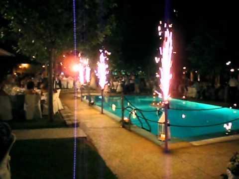 Συντριβάνια στην πισίνα Κτήμα Κορδαλής