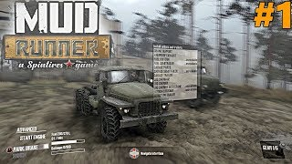 SpinTires MudRunner: PC Let's Play, Part 1! FIRST CHALLENGE MISSION!!