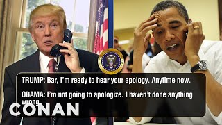 Video Trump Calls Obama To Talk About Microwaves  - CONAN on TBS MP3, 3GP, MP4, WEBM, AVI, FLV April 2018